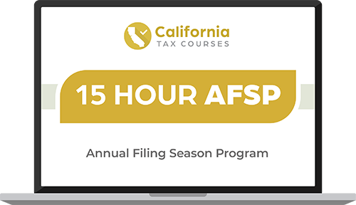 IRS AFSP 15 Hour CE Course Image